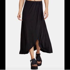 Free People Smoke and Mirrors Black Maxi Skirt XS